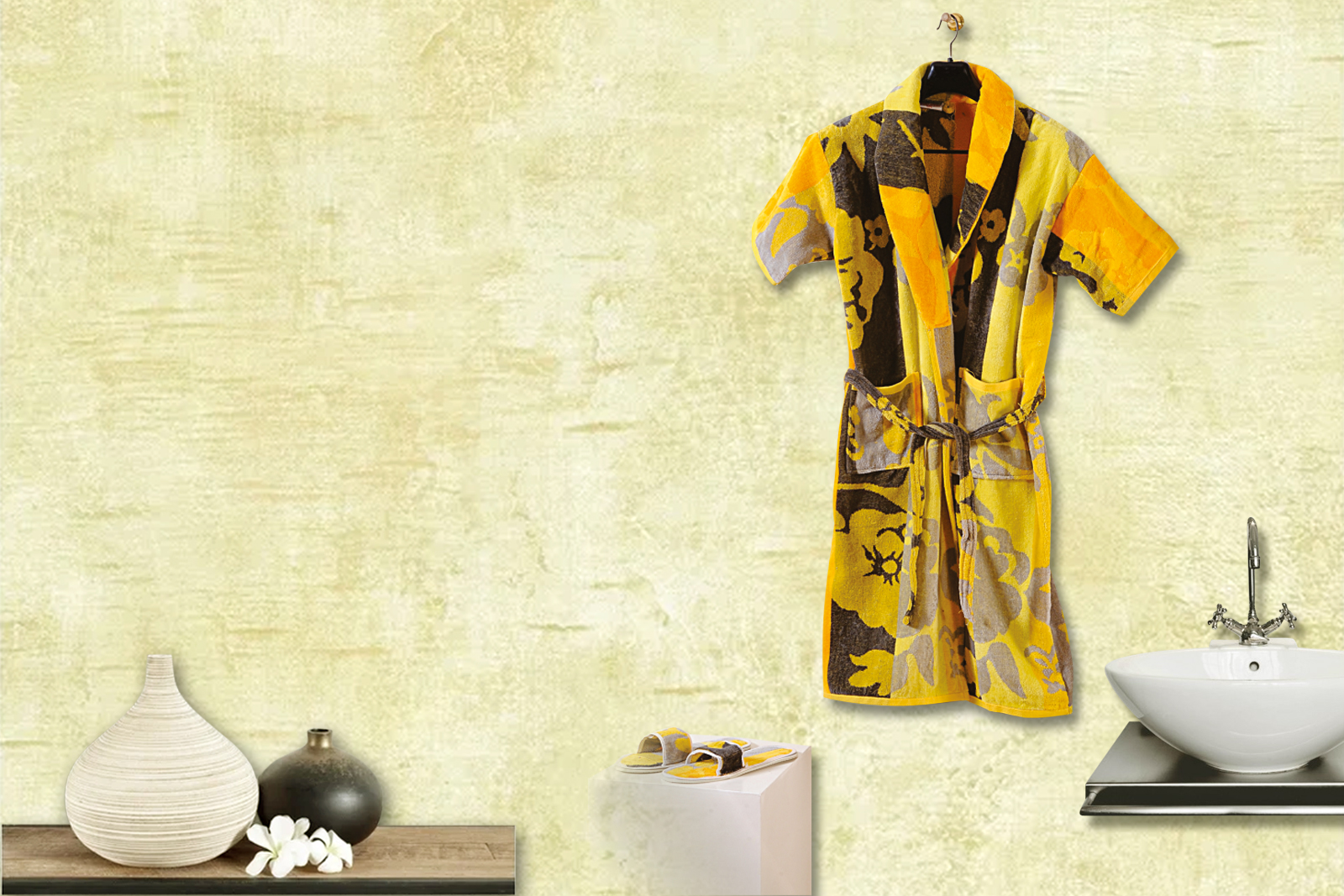 Yellow Color Bath Robes