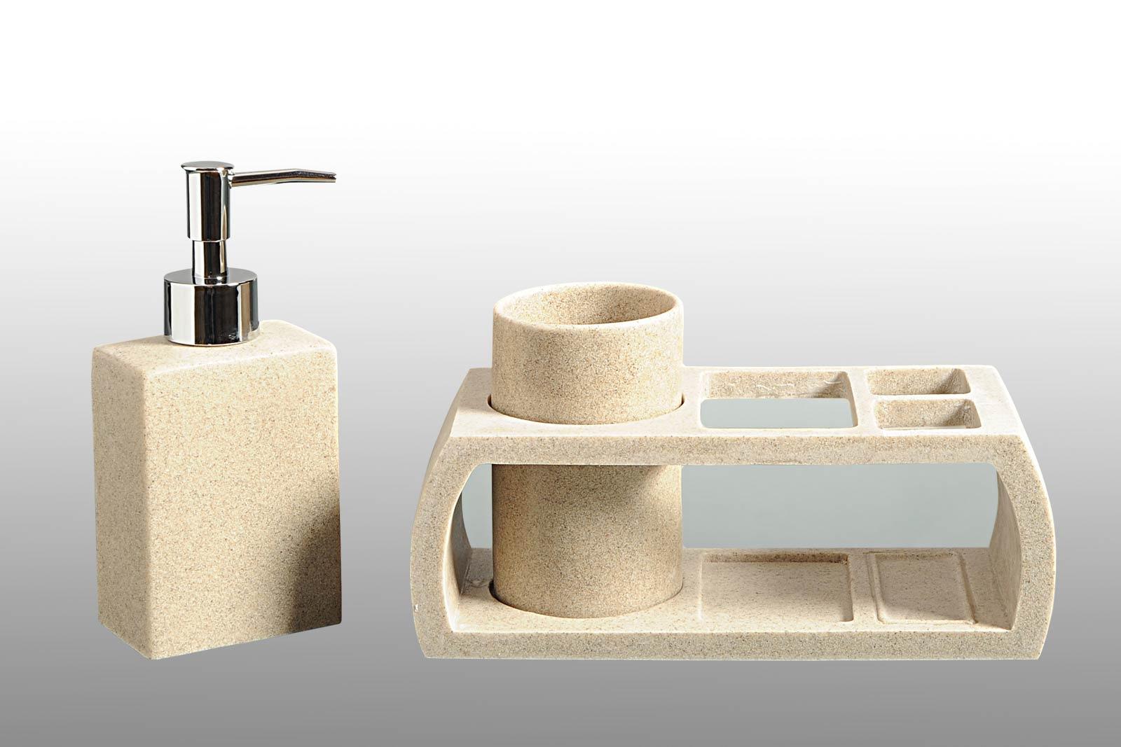 Biege Granite Bath Accessories