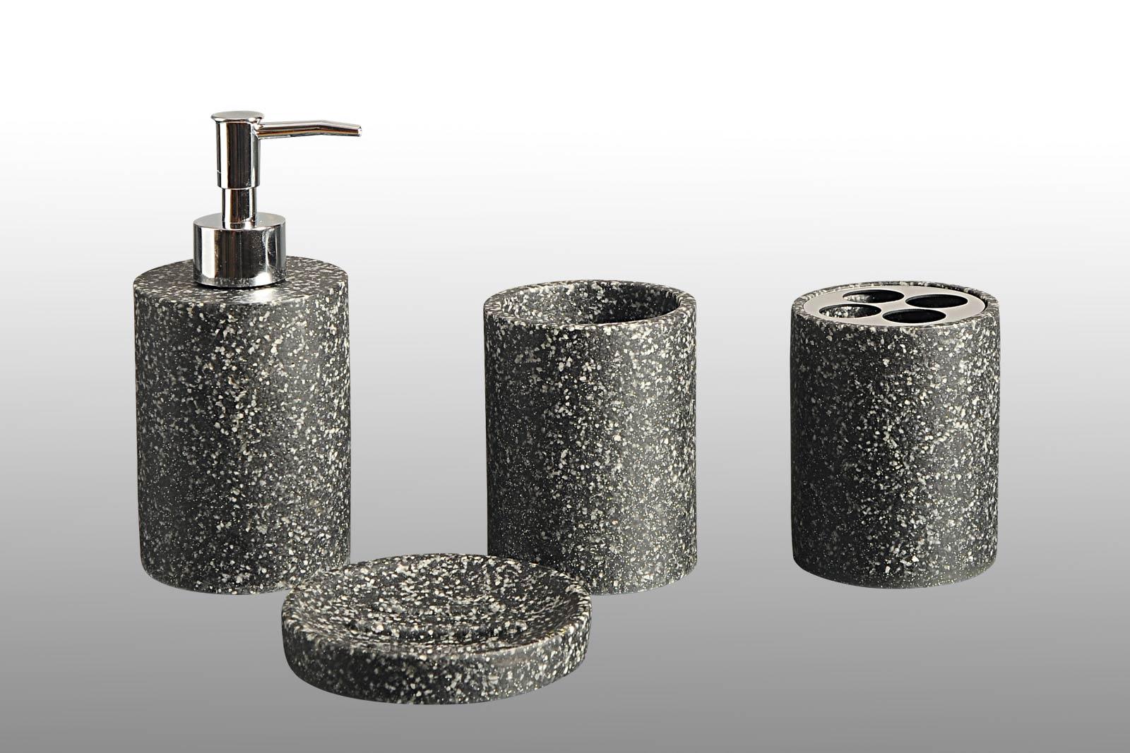 Black Granite Bath Accessories