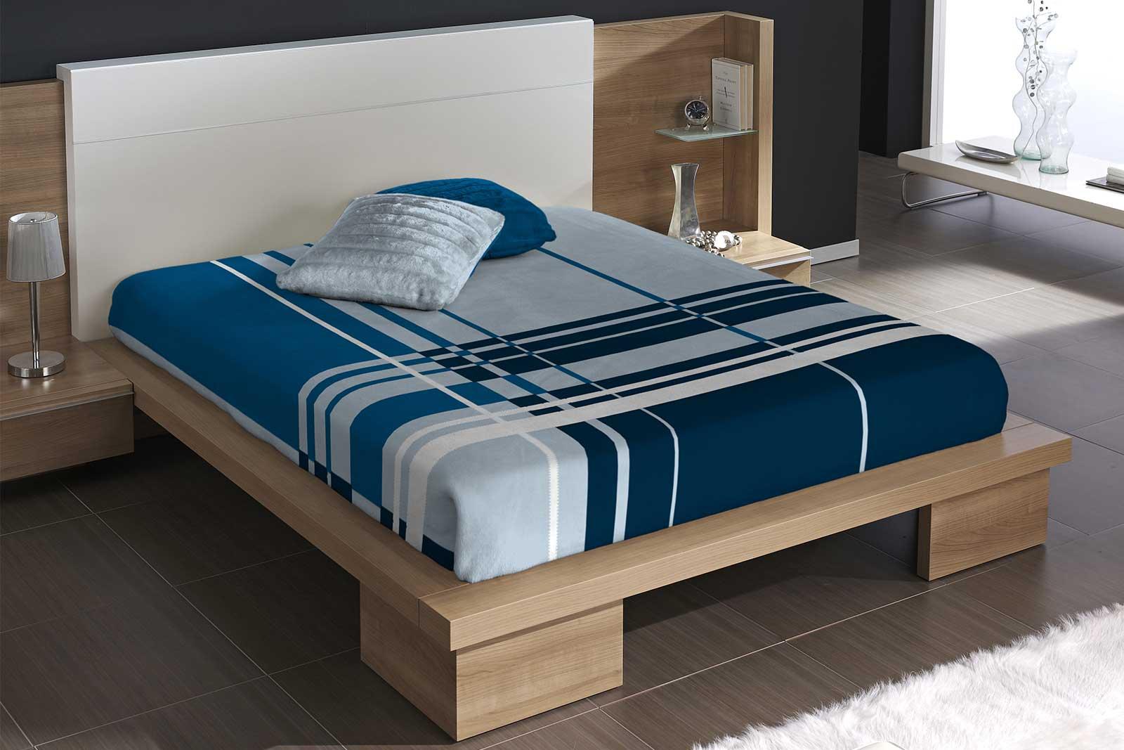 Blue Color Multistripe Blanket