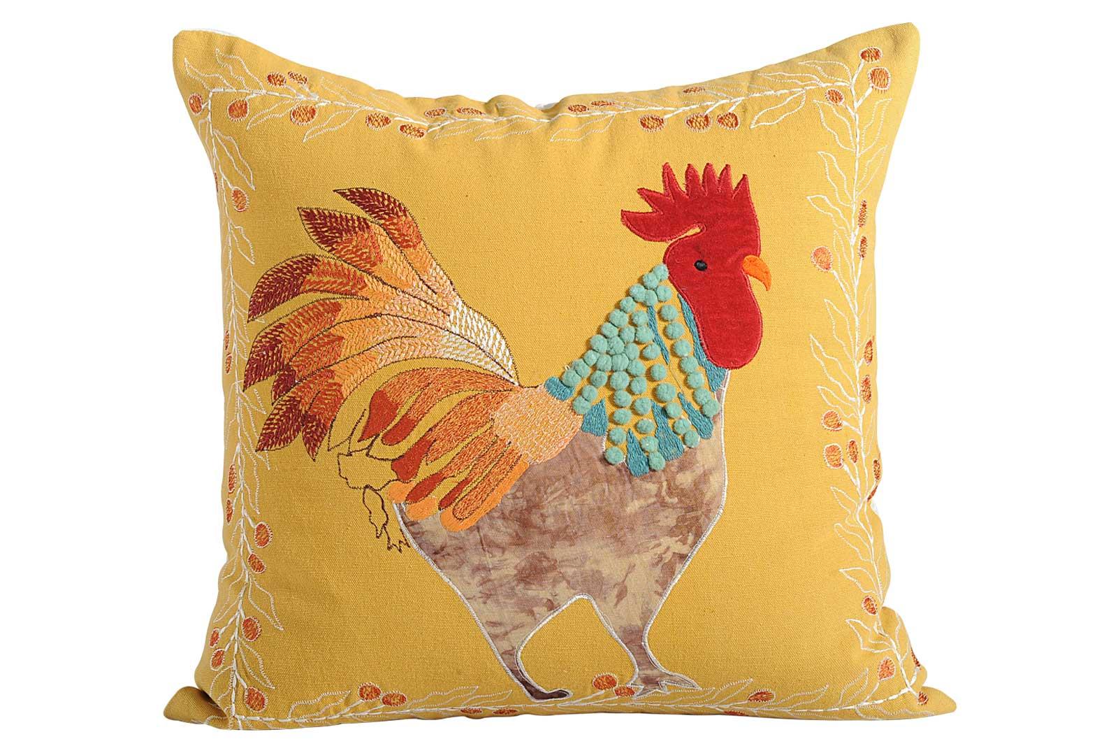 Cock Design Cushion
